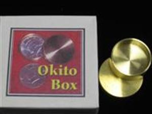 Okito Coin Box-Brass