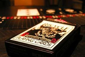 Bicycle Poker -Black Tiger (red pips)
