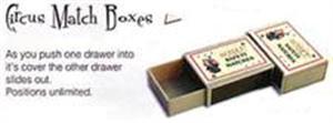 CIRCUS MATCH BOXES- cambaz kibrit kutuları