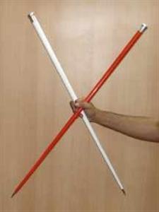 Vanishig cane metal. Metal kaybolan baston.renkli.